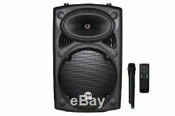 Emb 15 Rechargeable Portable Dj Pa Haut-parleur / Bluetooth / Karaoké Led 1700 Watts