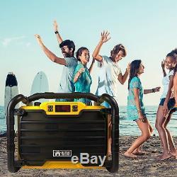 Emb 300w Power Box Haut-parleur Étanche Rechargeable Jobsite Avec Bluetooth / Sd / Usb