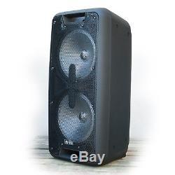 Emb Dual 10 2000 Watts Haut-parleur De Sonorisation Dj Party Portable Avec Bluetooth Usb