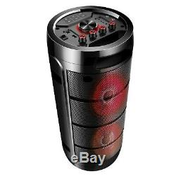 Emb Haut-parleur Dj Party Pa Rechargeable 1000 Watts Avec Éclairage, Mic, Usb, Bluetooth