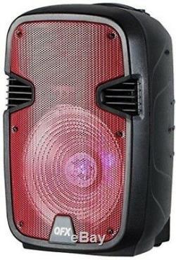 Enceinte De Fête 12 Pouces Avec Support Et Microphone Rechargeables Qfx Pbx-1205-rd Rouge