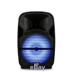 Enceinte De Soirée Bluetooth 12 Rechargeable Audio Acoustique Avec Lumières Et Micro Sans Fil