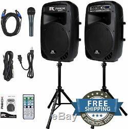 Enceinte De Sonorisation Stands Système Paire 12 Bluetooth Outdoor Dance Party Set Microphone