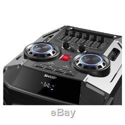 Enceinte Portable Rechargeable Bluetooth Sharp Ps-940 180w Avec Lumière Disco