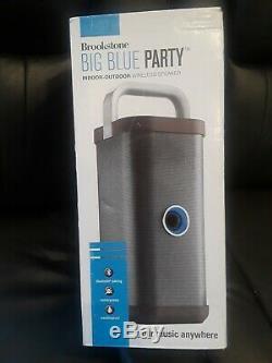 Enceinte Portable Sans Fil Brookstone Big Blue Party, Gris Nouveau