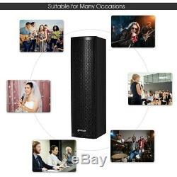Ensemble De 2 Enceintes De Mariage Bi-amplifiées Bluetooth 2000w, 8 X 10 X 29,5 Us