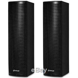 Ensemble De 2 Haut-parleurs Bluetooth Bi-amplifiés Professionnels 2000w Pour Mariage