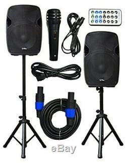 Eses Speakers Bluetooth Wired Système Dj 2000w Party Songs Ensemble De 2 Construit En Usb