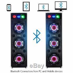 Frisby Fs-4080st Système D'enceintes Amplifiées Karaoké Avec Lumières Bluetooth Et Dj