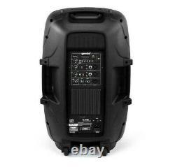 Gemini 15 2000 Watts Bluetooth Pa Party Speaker Avec Support Et Microphone