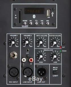 Gemini 15 Party 2000w Bluetooth Sono Dj Haut-parleur Avec Party Lights & Support