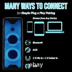 Gemini Audio Gls-550 Big Wireless Bluetooth Led Lights Party Speakers MIC Remote