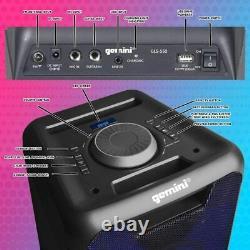Gemini Gls-550 Haut-parleur Bluetooth Portable Rechargeable