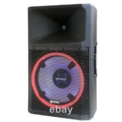 Gemini Gsp-l2200pk Bluetooth 2200 Watt Haut-parleur Avec Feux De Fête Et Lecteur Multimédia