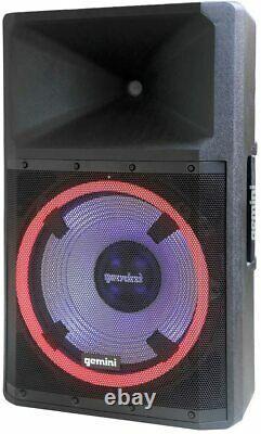 Gemini Gsp-l2200pk Portable 2200w Peak Power Bluetooth Dj Party Haut-parleur