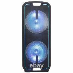Gemini Gsx-l2515btb Dual 15 Led Bluetooth Rechargeable Party Dj Pa Speaker