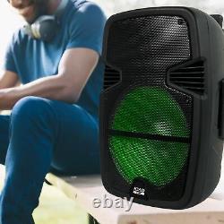 Gemini Pro Audio 15 Pouces Portable Wireless Trolley Bluetooth Led Party Haut-parleurs