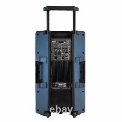 Gemini Pro Dj Audio 2200 Watt Portable Bluetooth Media Pa System Party Haut-parleurs