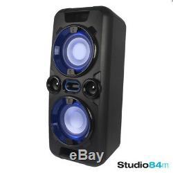 Goodmans Mega Bass Sans Fil Usb Bluetooth Led Partie Haut-parleur Stéréo Portable