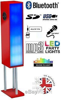Grande Party Tour Bluetooth Megasound Haut-parleur Avec Lumières Led Étage Permanent