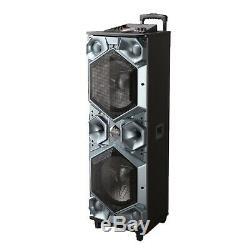 Grandes 15x2 Pouces Haut-parleurs Bluetooth Usb Portable Party, Sd, Radio Fm, Entrée Micro
