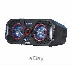 Haut-parleur Bluetooth À Grande Partie Bleue Avec Système Stéréo Stéréo À Led