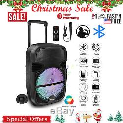 Haut-parleur Bluetooth Bt Portable Rc À 360 ° Avec Hayon Arrière Haute Voix Karaoké + MIC