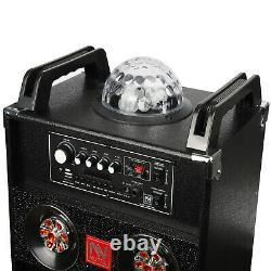 Haut-parleur Bluetooth De La Partie Portable 10bt Avec Lumière Ambiante Karaoke Remote Pop