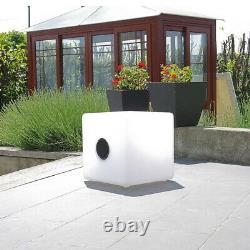 Haut-parleur Bluetooth Extérieur Cgc Large Rgb Cube Garden Party Led Light Portable Uk