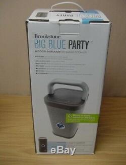 Haut-parleur Bluetooth Intérieur-extérieur Brookstone Big Blue Party -rare Mint Condition