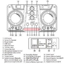 Haut-parleur Bluetooth Rechargeable Dolphin Sp-909rbt, Grand Et Portable, Avec Del