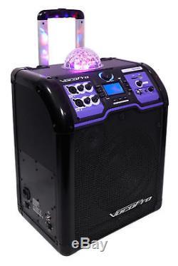 Haut-parleur Bluetooth Rechargeable Vocopro Lightshow Avec Del + (2) Microphones