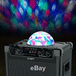 Haut-parleur De Karaoké Bluetooth Rechargeable Ion Audio Party Rocker Plus Avec Lumières