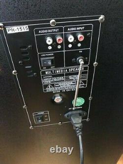 Haut-parleur Dj Bluetooth Party Dual 15 Pouces Avec Égaliseur + Lumières + Micro Sans Fil