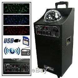 Haut-parleur Dj Party Befree 800w Watt Pa Avec Bluetooth Light Show Télécommande Usb / Sd / Fm