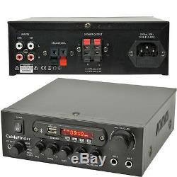 Haut-parleur Extérieur Bluetooth Kit 4x Blanc Karaoke / Stéréo Amp Jardin Parties Bbq