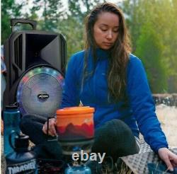 Haut-parleur Loud Party 15 Avec Lumière Rechargeable Bluetooth/aux Input/usb/fm Radio