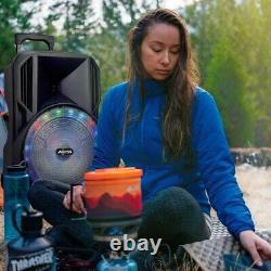 Haut-parleur Portable Bluetooth De 15 Pouces Avec Des Lumières Led Et Radio Fm