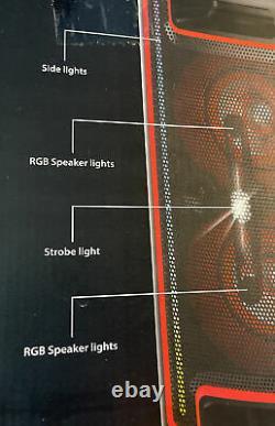 Haut-parleur Portable Bluetooth De 160 Watts Avec Lumières
