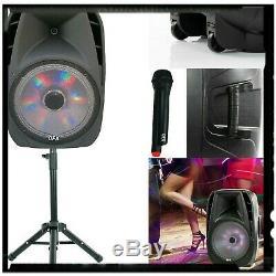 Haut-parleur Portable Bluetooth Haute Voix 15 À 7500 Watts, Micro Et Support Sans Fil