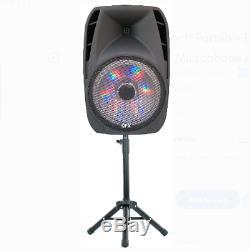 Haut-parleur Portable Bluetooth Parti 7500w 15inch Sans Fil Microphone Et Stand