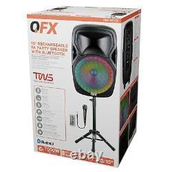 Haut-parleur Portable Bluetooth Party 7 500 W 15 Pouces Microphone Sans Fil &