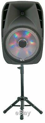 Haut-parleur Portable Bluetooth Party 7,500w Microphone Sans Fil Et Support De 15 Pouces