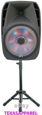 Haut-parleur Portable Bluetooth Party 7,500w Pied De Microphone Sans Fil De 15 Pouces