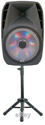 Haut-parleur Portable Bluetooth Party 7500 Watts 15 Microphone Sans Fil Et Support