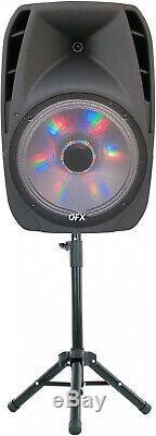 Haut-parleur Portable Bluetooth Party Dj 15 Pouces Grand Sans Fil Avec Micro Et Stand