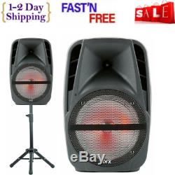 Haut-parleur Portable Bluetooth Party Microphone Sans Fil Et Support 15 Pouces Nouveau