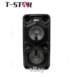 Haut-parleur Portable Bluetooth T-star Dual 10 Party Karaoke Avec Micro Sans Fil