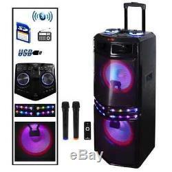 Haut-parleur Portable Sans Fil Bluetooth Dual Subwoofer 10 Pouces Avec Son