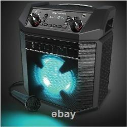 Haut-parleur Rechargeable Bluetooth Haute Puissance Ion Party Boom 100w Avec Micro & Lumières